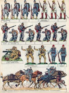 Tratto dal nº 21 del 23 maggio 1965 del Corriere dei Piccoli. Military Gear, Military History, Papercraft Anime, Red Vs Blue, German Uniforms, Postcard Art, Toy Soldiers, Paper Models, Paper Toys