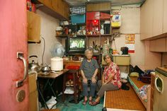 "Michael Wolf ""100x100""  2006  Documentation of people living in the Hong Kong's oldest public housing complex, the Shek Kip Mei Estate, in their approx. 10m3 appartmants"