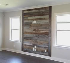 tv wall with reclaimed wood Reclaimed Wood Accent Wall, Accent Wall Bedroom, Wood Walls Living Room, Entertainment Wall, Wall Treatments, Bedroom Wall, Wood Company, Wood Bedroom, Fireplace Wall
