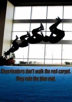 Who needs a red carpet when you have a blue mat?