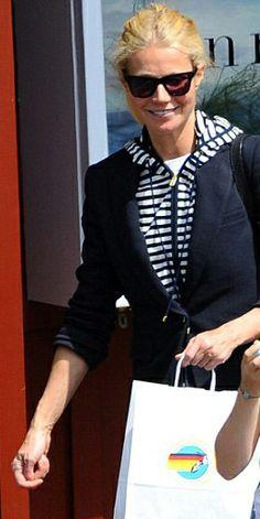 Gwyneth Paltrow in our Goop x Veroinca Beard collaboration Jacket www.VeronicaBeard.com