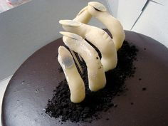 Cake for Halloween Zombie Fingers The recipe for the pie for Halloween «Zombie Fingers» for you.