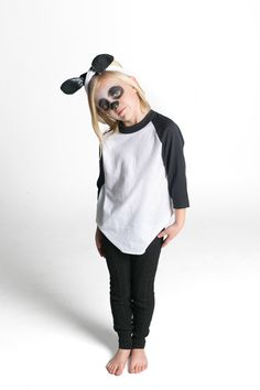 Panda oídos headwrap revirado More Panda Costume Kids, Panda Costumes, Diy  Halloween Costumes For