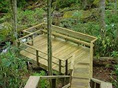 200 square foot wood deck - I would love to connect the upper deck to the lower.