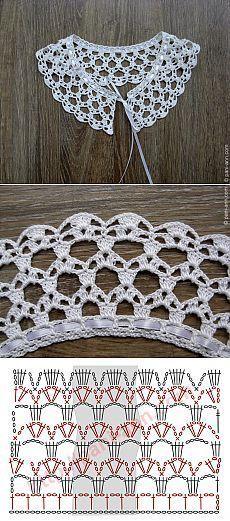 Resultado de imagen para cuello de vestidos a crochet pinterest