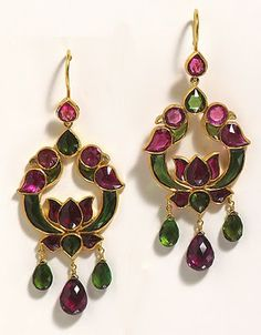 18k-yellow-gold-diamond-multi-gemstone-cocktail-Topaz and gold earrings.