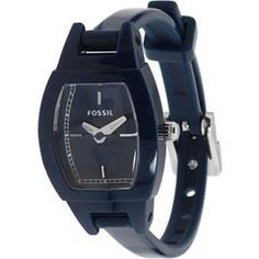 Fossil Trend Collection Ultra Slim Silicone Blue Dial Womens watch #JR1257: Watches: Amazon.com