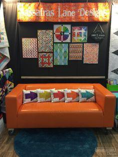 Sassafras Lane Designs booth at Quilt Market Fall 2015