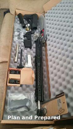 Need an AR but on a tight budget? Build it! Airsoft Guns, Weapons Guns, Guns And Ammo, Ar Rifle, Rifle Scope, Tactical Rifles, Firearms, Tactical Scopes, Homemade Shotgun