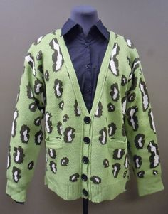 Sister Moses Green Leopard Cardigan NOW ON EBAY!!! Get it while it lasts! Only two left!! $73