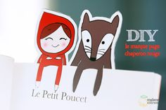 Free Printable Little Red Riding Hood and Woolf Book Mark