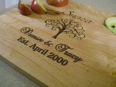 Personalized+Established+Family+Name+Cutting+Board+by+Wildoaks,+$30.00