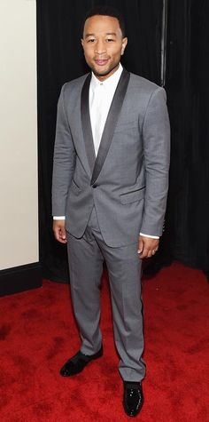 Grammys 2015Red Carpet Arrivals - John Legend from #InStyle in Dolce & Gabbana