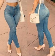 High-Waisted Zipper Slimming Pencil Jeans