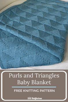 Easy Knitting Patterns, Knitting For Kids, Knitting For Beginners, Crochet Blanket Patterns, Knitting Projects, Crochet Ideas, Baby Knitting, Easy Knit Baby Blanket, Knitted Baby Blankets