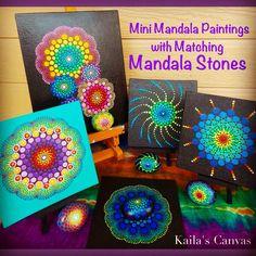 NEW!  Dot Mandala Paintings with a Matching Mandala Stone!!!