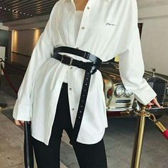 Double Strap Extra Long Waist Belt