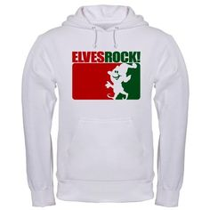 Elves Rock Christmas Hooded Sweatshirt by CafePress. The hoodie: the perfect utilitarian piece of clothing. Leave your hat and scarf at home Stay warm and comfy in your Pullover Hooded Sweatshirt. This hoodie is constructed with a cotton/polyester blend - both durable and comfortable. Heavyweight 90 Christmas Hooded Sweatshirt Tee, TShirt, Shirt The hoodie: the perfect utilitarian piece of clothing. Leave your hat and scarf at home Stay warm and comfy in your Pullover Hooded Sweatshirt. This…