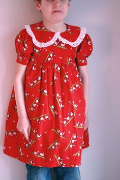 Vintage girls dress 5/6T Easter ducks by fuzzymama on Etsy