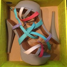 Charlotte Russe Heels Only been worn once. In great conditions Charlotte Russe Shoes Heels