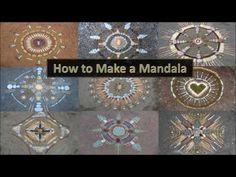 How to Make a Mandala in Nature with Natural Materials - YouTube