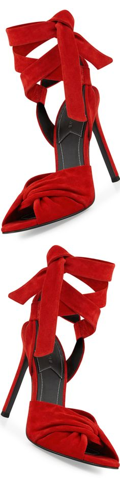 Kendall + Kylie Delilah Suede Ankle-Wrap Sandal