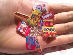 Candy Charm Bracelet Starbursts Blow pop Twizzlers Dots Sweethearts Sour Patch Kids Jelly Belly Life Savors. $14.00, via Etsy.