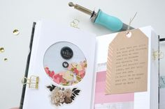 Mini Album by Aly Dosdall for We R Memory Keepers featuring the Typecast typewriter and Photo Sleeve Fuse Easter This Year, Travel Journal Scrapbook, Project Life Layouts, Custom Planner, We R Memory Keepers, Scrapbook Paper, Scrapbooking Ideas, Creative Outlet, Journal Cards