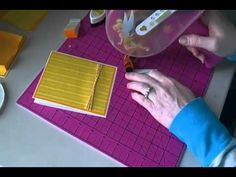 ▶ Easel Post it Note Holder with a Box - YouTube Cute note holder with a wobble decoration.  Check it out!
