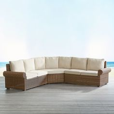 Echo Beach Latte Roll Arm 3-Piece Sectional | Pier 1 Imports