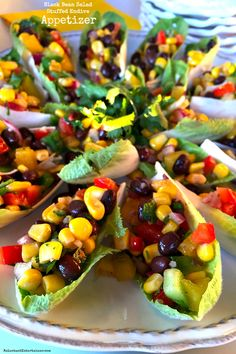 Black Bean Salad Stuffed Endive