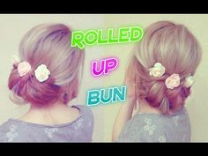 EASY ROLLED UP BUN HAIRSTYLE  | EASY  HAIRSTYLES | Awesome Hairstyles