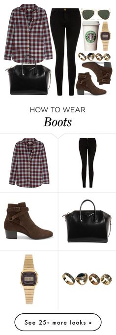 """""""Style #10154"""" by vany-alvarado on Polyvore featuring Current/Elliott, Burberry, Yves Saint Laurent, Givenchy, Ray-Ban, ALDO and Casio"""