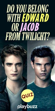 Do you belong with Edward or Jacob from Twilight? *** #PlaybuzzQuiz Twilight Movie Trivia Personality Quiz Vampires Werewolves Twilight Saga Playbuzz Quiz Twilight Quiz, Twilight Soundtrack, Twilight Book, Fun Personality Quizzes, Personality Types, Movie Facts, Movie Trivia, Vampire Series, Kristen Stewart Movies