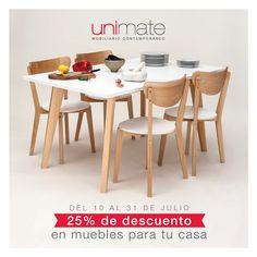 ¡Últimos días! Aprovechá la promo del 25% de descuento en todos nuestros #muebles. Visitá www.unimate.com.ar para ver #sillas, #mesas, #sillones y mucho más. #Unimate