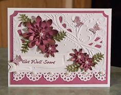 Floral Get Well Card TPC Studio Brush Stroke. This is another beautiful variation using a card kit that I purchased.
