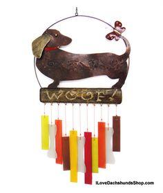 dachshund woof wind chime