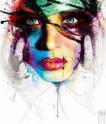 rostros pintados en acuarela - Buscar con Google