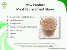 Zija has a delicious new meal replacement shake that is all natural, 100% bioavailable and absorbable! And it's delicious!