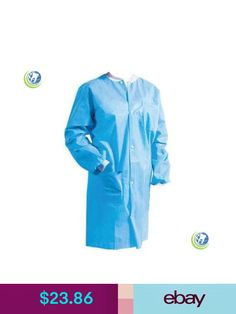 Medical Dental Disposable Re-Use Protective Lab Coat Gowns Blue Lab Coats, Medical Dental, Ebay Clothing, Raincoat, Gowns, Jackets, House, Clothes, Accessories