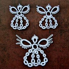 Angels, tatted!! Gotta learn to make these for the holiday season. Love these.
