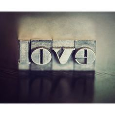 Vintage Love Letterpress Letters Teal Blue Aqua Letters Family Rustic... (€13) ❤ liked on Polyvore featuring home, home decor, wall art, teal home decor, typography wall art, calligraphy wall art, teal home accessories and aqua home decor