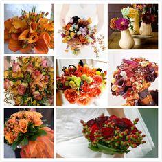 Autumn fruits bouquet Deciding on in season flowers for fall wedding decoration ideas