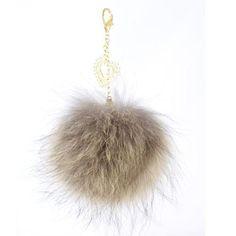 pompon accroche-coeur en fourrure raton finlandais / Blue fox heart-pendant pompom Dandelion, Creations, Fur, Sewing, Flowers, Pom Poms, Fur Accessories, Dressmaking, Couture