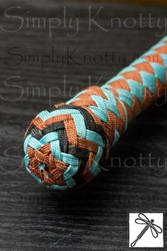 The heel knot and part of a handle from a 5 1/2 foot bull whip. I just love that repeated star of david pattern. By Seth Elberger at Simply Knotty