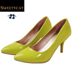 (Buy here: http://appdeal.ru/2g5p ) New 2015 Spring Classic Sexy Pointed Toe High Heels Women Pumps Shoes Brand Design Wedding Shoes Pumps 7 Colors Big Size 34-43 for just US $29.99
