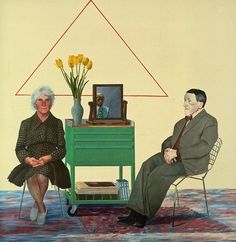 "david hockney - ""my parents"" 1975"