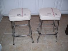 our vintage home love: A Little Bar Stool Makeover!