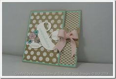 Tag Topper Punch Double Flap Card, Ampersand, So Very Grateful, Fresh Prints, Amanda Bates, The Craft Spa ,  (2) with Tutorial