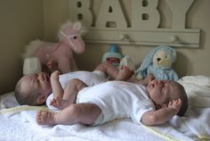 Twins Jack and Jessie reborn from Berenguer 'First Tear' playdolls now living in Australia